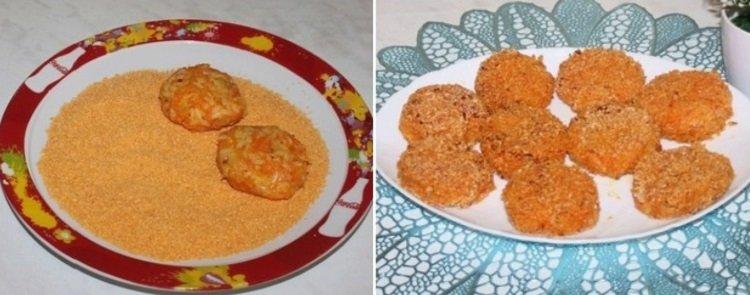 Морквяно-рисові котлети