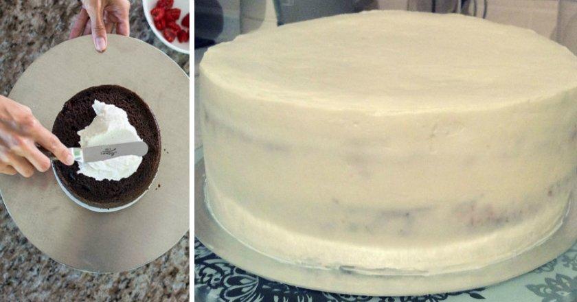 Крем для вирівнювання торта подивитися рецепт