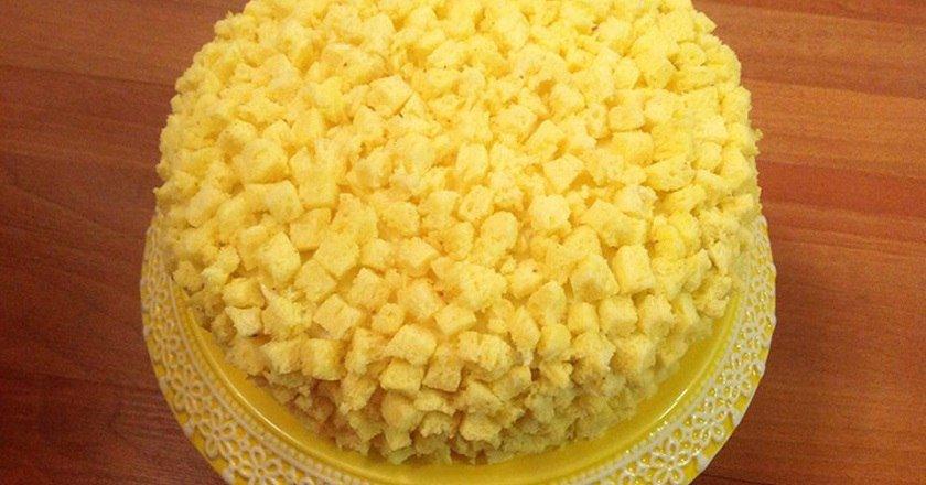 Торт «Мімоза» подивитися рецепт