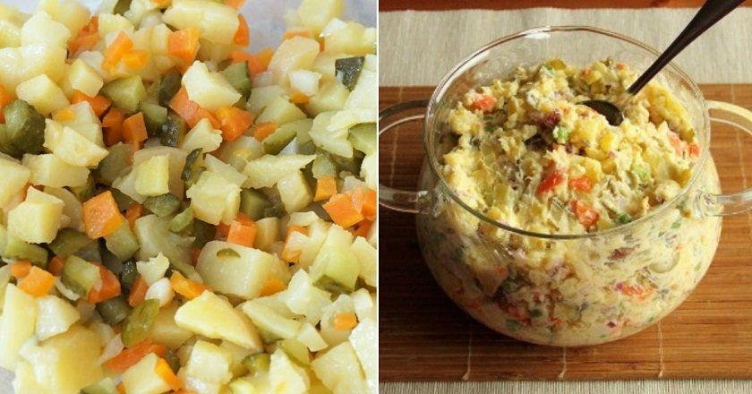 Салат з картоплі і огірків подивитися рецепт