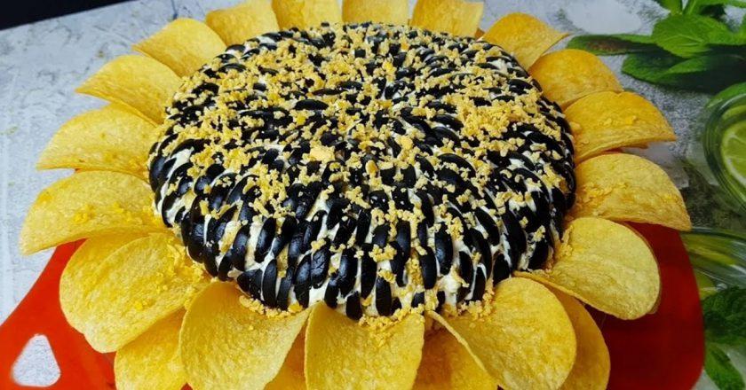 Салат «Соняшник» з чіпсами подивитися рецепт