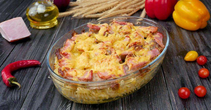 Як приготувати запіканку з макаронів з сиром подивитися рецепт