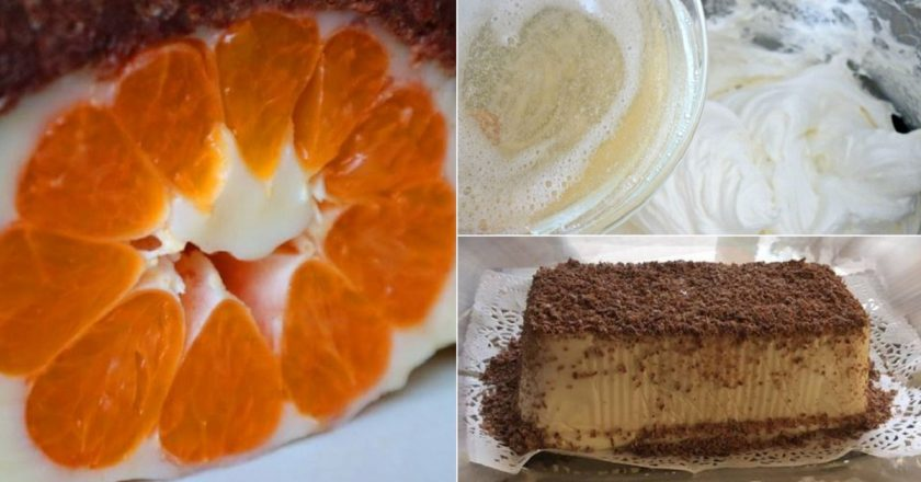 Торт без випічки з фруктами подивитися рецепт