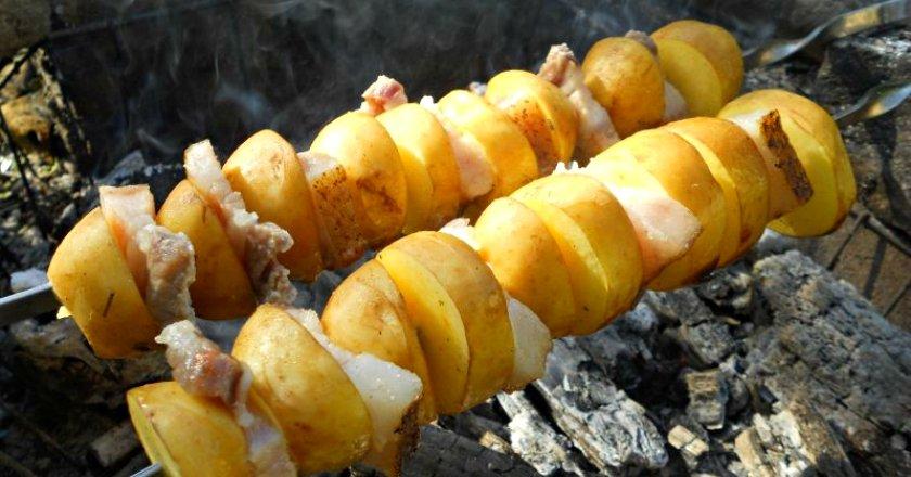 Кебаб з картоплі подивитися рецепт