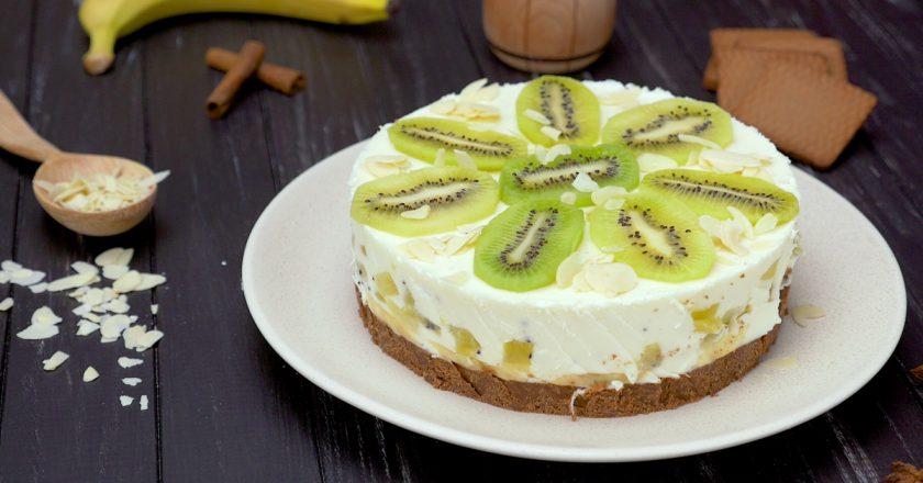 Як приготувати йогуртовий торт подивитися рецепт