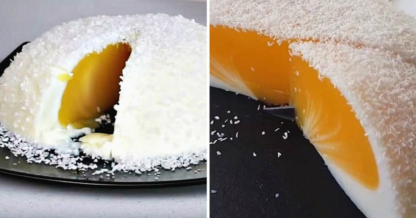 Десерт «Яйце страуса» подивитися рецепт