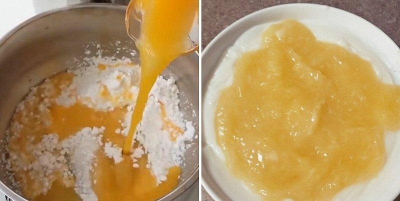 Десерт «Яйце страуса»