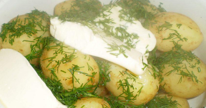 Картопля зі сметаною подивитися рецепт