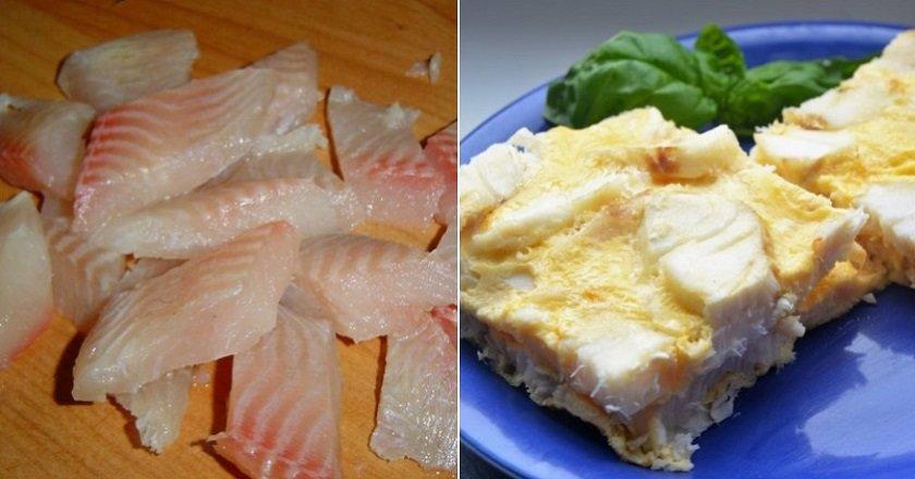 Риба в омлеті подивитися рецепт