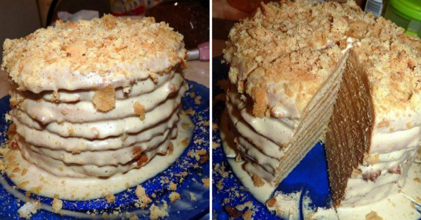 Торт «Пізанська вежа» подивитися рецепт