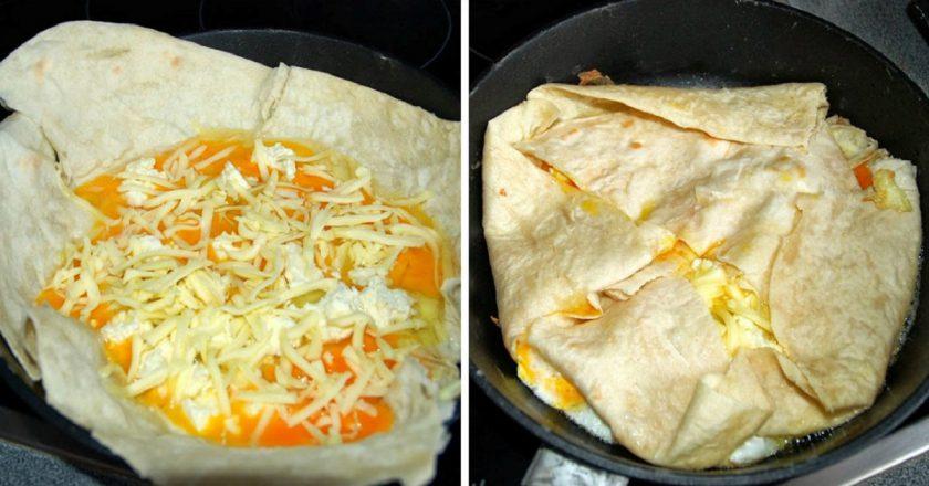 Яйце в лаваші подивитися рецепт