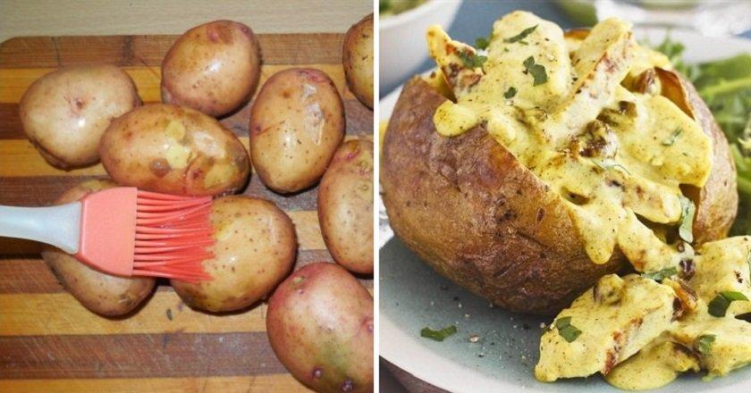 Картопля, фарширована куркою подивитися рецепт