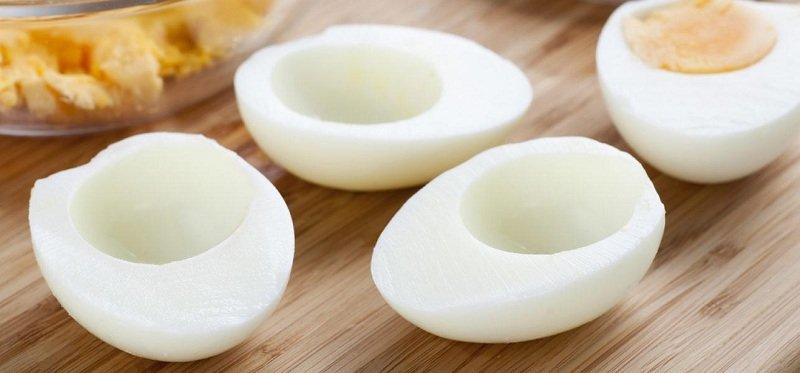 Фаршировані яйця з сиром