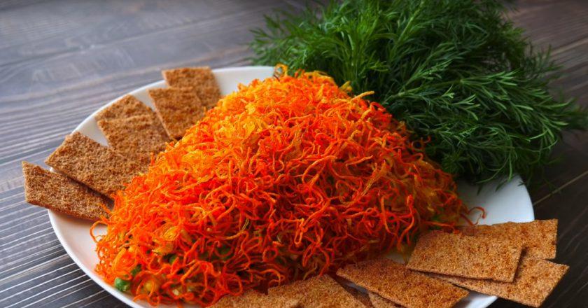 Святковий салат «Морквинка» подивитися рецепт
