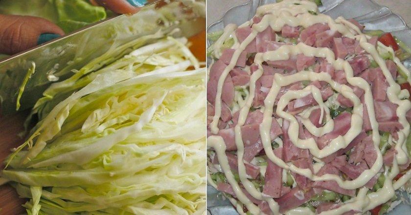 Салат з пекінською капустою і шинкою подивитися рецепт