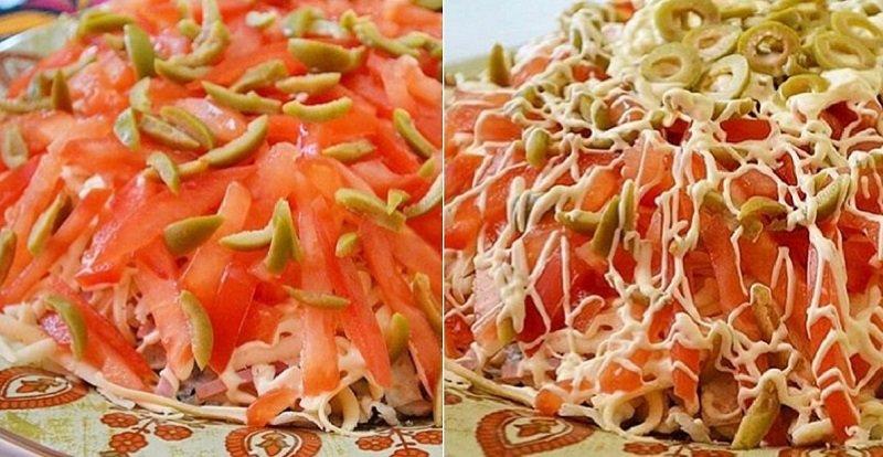 Салат з пекінською капустою і шинкою