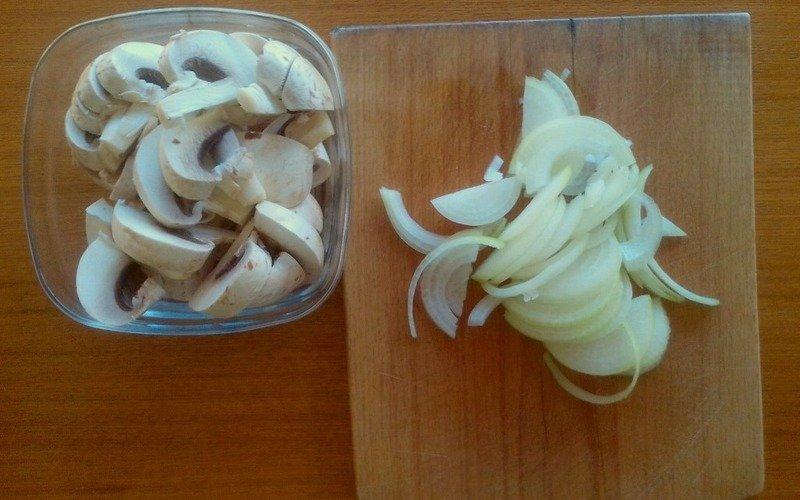 Запіканка з куркою і грибами