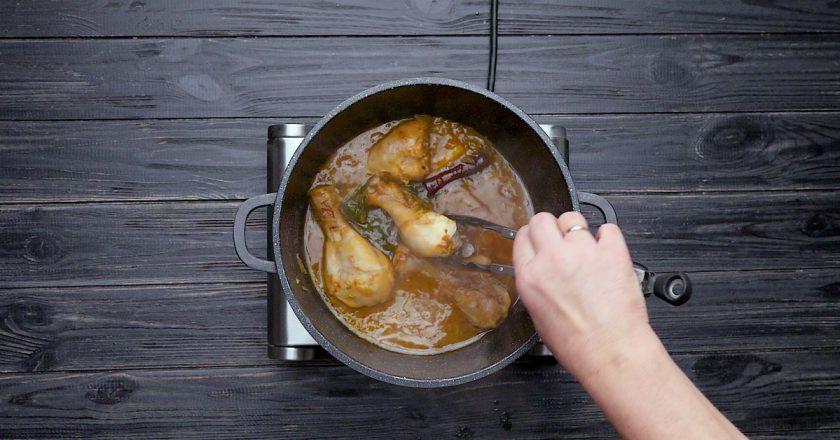Як приготувати курку з грушею подивитися рецепт