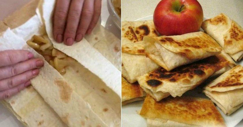 Лаваш з яблуками як приготувати, покрокові рецепти від «Це Смак»