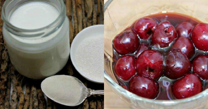 Десерт з вишнею