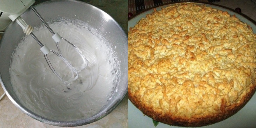Тертий пиріг на кукурудзяній муці