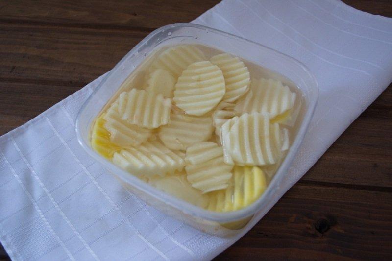 Картопля з м'ясним фаршем