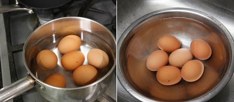 Яйця в чаї