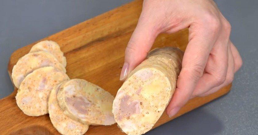 Домашня ковбаса з сиром подивитися рецепт