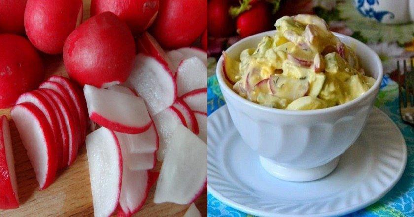 Дачний салат з редискою подивитися рецепт