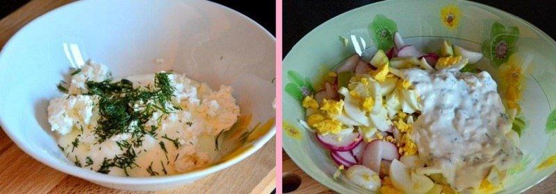 Дачний салат з редискою