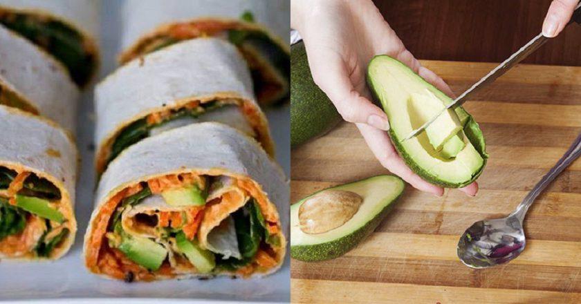 Овочеві роли з хумусом подивитися рецепт