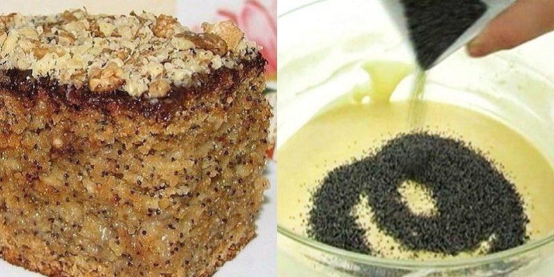Медово-маковий торт подивитися рецепт
