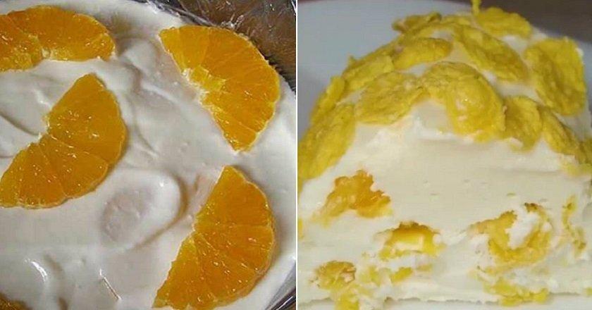 Сирно-сметанний торт подивитися рецепт
