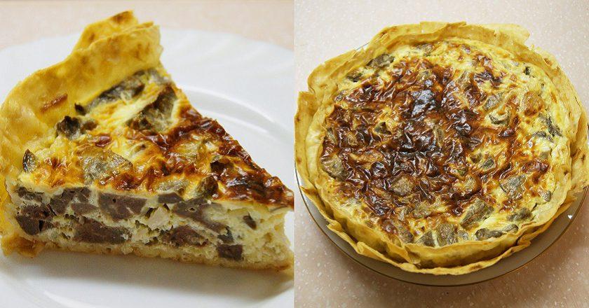 Пиріг з лівером подивитися рецепт