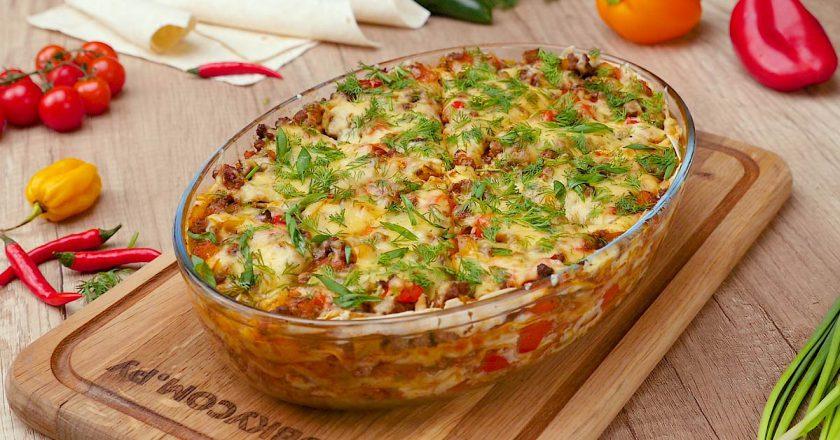 Як приготувати швидкий обід з лаваша подивитися рецепт