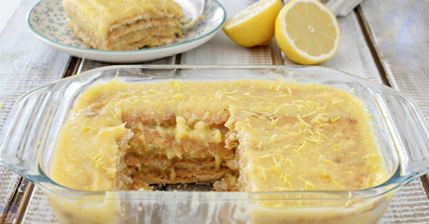 Лимонний торт без випічки подивитися рецепт