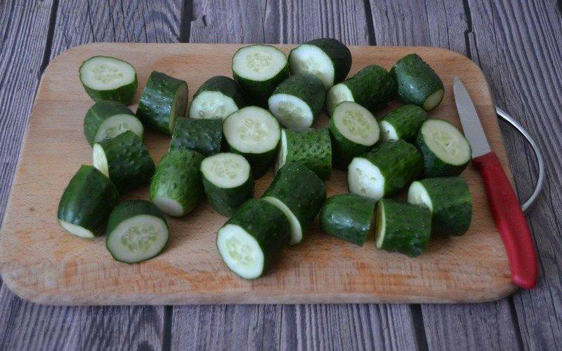 Огірки з гірчицею