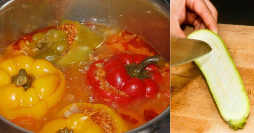 Перець, фарширований овочами подивитися рецепт