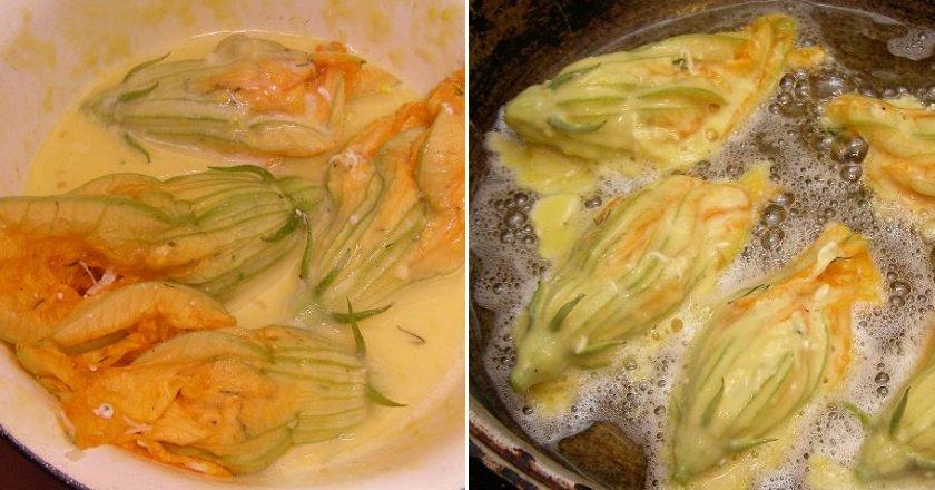 Квітки кабачків в клярі подивитися рецепт