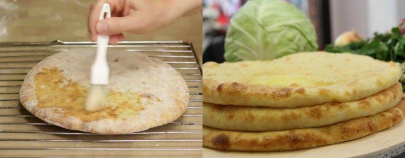 Осетинські пироги з капустою і сиром