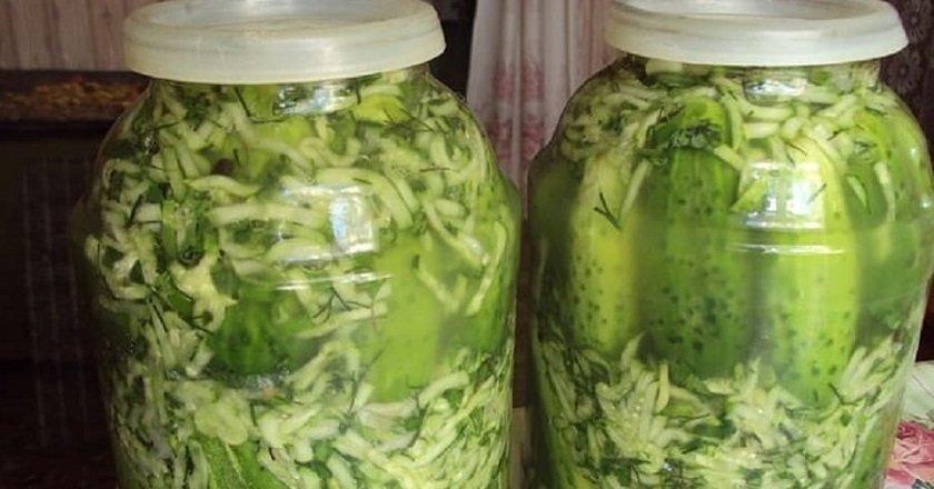 Огірки у власному соці подивитися рецепт