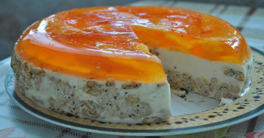 Торт без випічки «Апельсинка» подивитися рецепт
