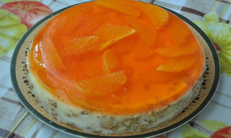 Торт без випічки «Апельсинка»