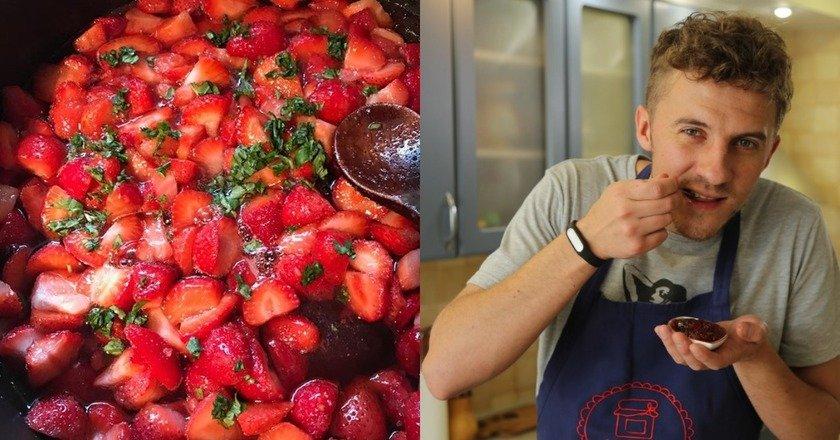 Полуничне варення з базиліком як приготувати, покрокові рецепти від «Це Смак»