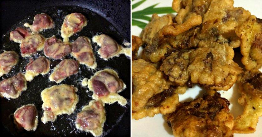 Курячі сердечка на сковороді подивитися рецепт