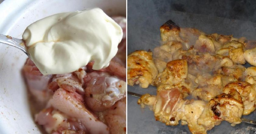 Шашлик з курячих стегон подивитися рецепт
