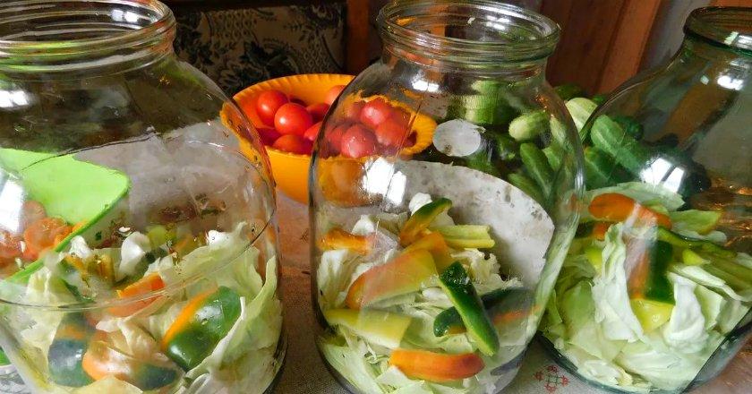 Овочевий салат на зиму подивитися рецепт