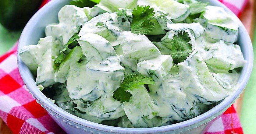 Салат з огірками і сиром як приготувати, покрокові рецепти від «Це Смак»