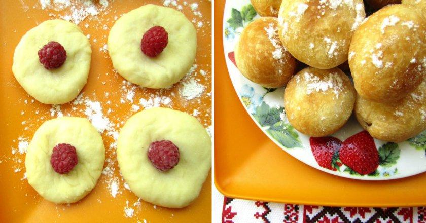Пончики з начинкою подивитися рецепт