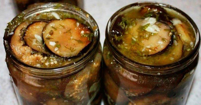 Мариновані баклажани з часником і горіхами подивитися рецепт
